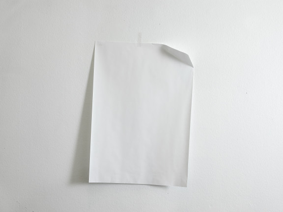 Paper folded to the far right, inclined to the left, 2018