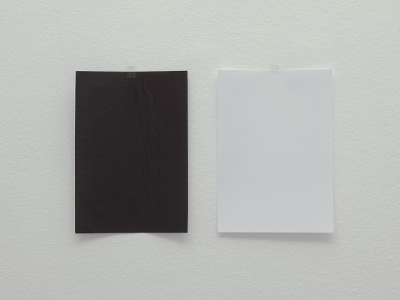 The impossibility of the white to be black and the black to be white, 2018