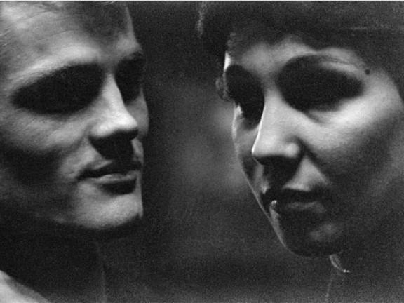 Chet Baker and girlfriend, Concertgebouw, Amsterdam, 1955