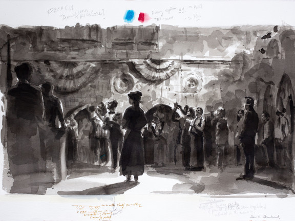Confetti Ghost Series (French of American Tricolore) , 2019