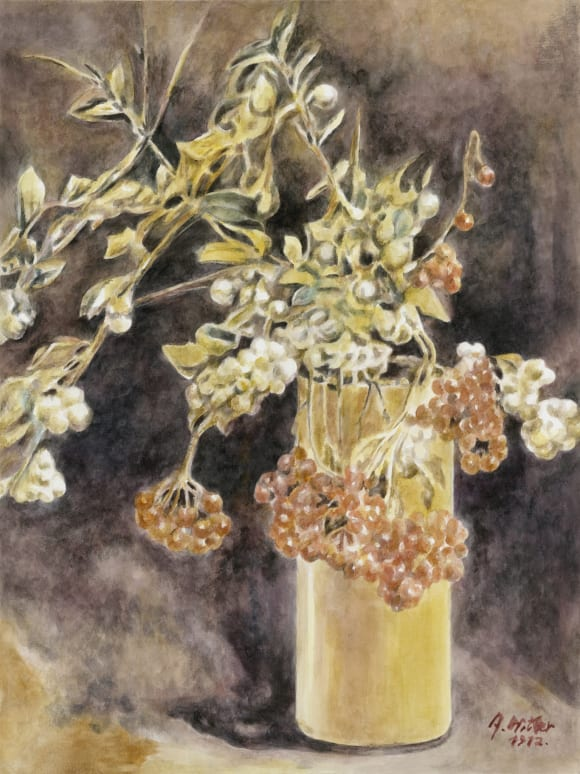 These are still Flowers 1912-2013 No. 16, 2013, Watercolor on paper, 40 x 30 cm