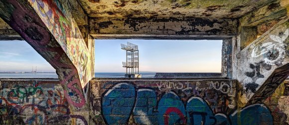 Inside looking out, Blackrock Baths