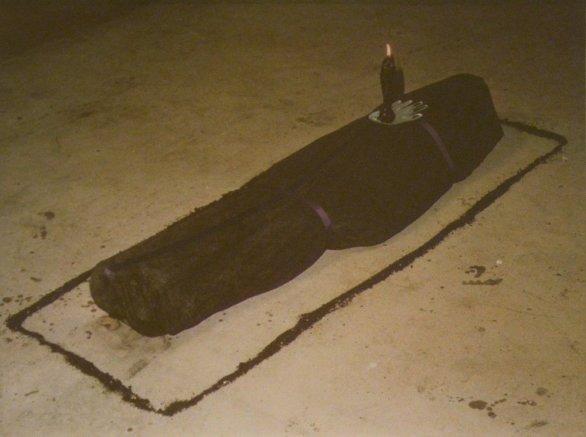 Ana Mendieta, Untitled (Black Ixchell, Candle Ixchell), 1977
