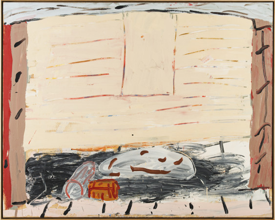 Roy Oxlade, Fire Place and Orange Log, 1984