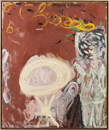 Roy Oxlade, Cream Table and Standing Figure, 1991