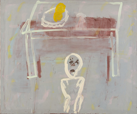 Roy Oxlade, Small White Figure, 2002