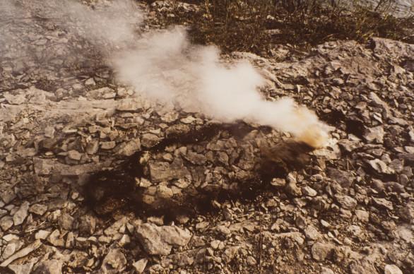 Ana Mendieta, Rocks and Explosion, 1978