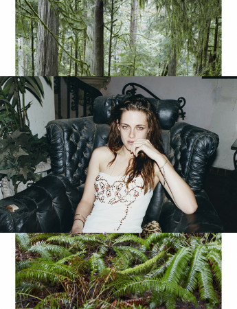 Juergen Teller, Kristen Stewart, At Moments I Felt like Being in a Strange Dream in a Medieval Forest with 2 Naked Canadian Girls Doing Hula Hoops, Covered all over in Sweet Maple Syrup No.123, System Magazine Supplement, Canada, 2017