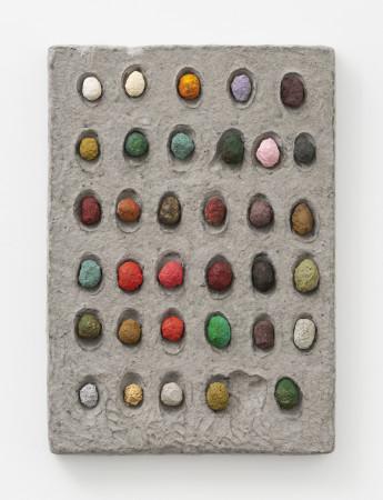 Erika Verzutti, 2 eggs 1 gold nugget, 2020