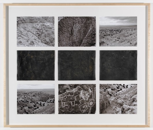 Michelle Stuart, Petroglyph, Three Rivers, New Mexico, 1978 (framed and printed in 2010)