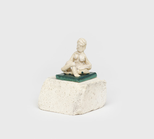 Amy Bessone, Micro-monument no.2 (white/green), 2018