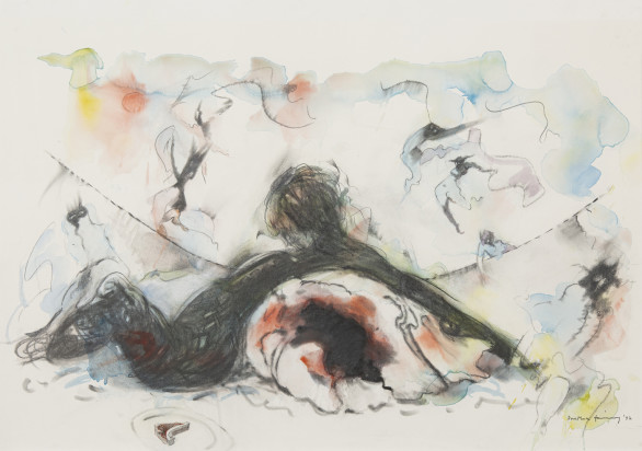 Dorothea Tanning, Odalisque Plagued by Eyrinis, 1982
