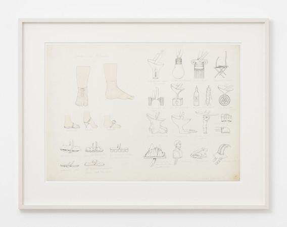 Birgit Jürgenssen, Schuhe zum Aufmalen (Paint-on Shoes), 1972