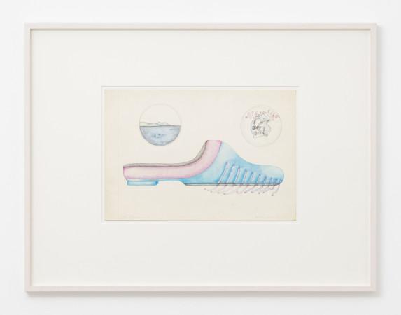 Birgit Jürgenssen, Schuhentwurf 4 (Shoe design 4), 1971