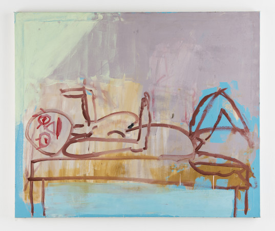 Roy Oxlade, Woman on a Table, 2002