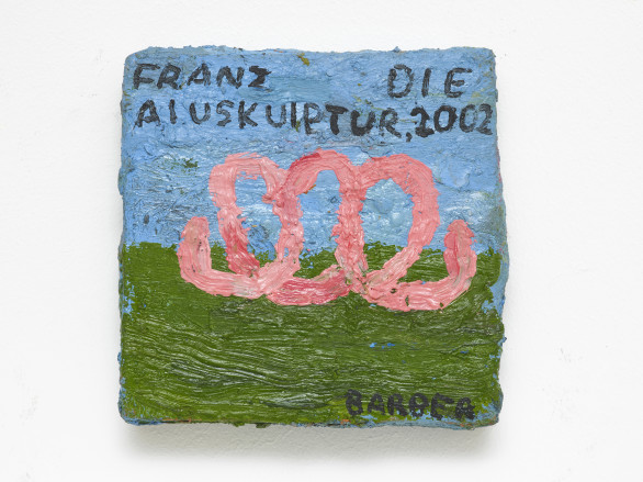 Sophie Barber, Franz die Aluskuptur 2002, 2020