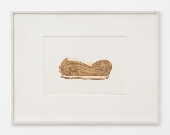 Birgit Jürgenssen, Schlokoladeschuh (Chocolate Shoe), 1972