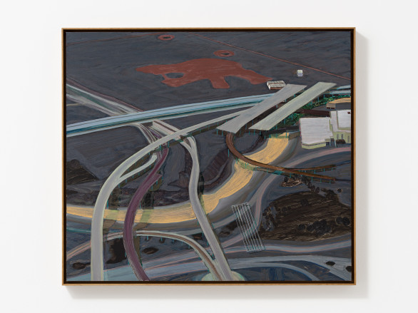 Carol Rhodes, River, Roads, 2013