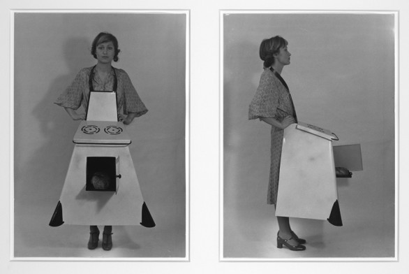 Birgit Jürgenssen, Housewives' Kitchen Apron, 1975