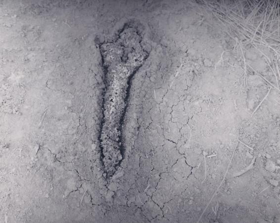 Ana Mendieta, Gunpowder Silueta (Fundamento Palo Monte), 1980