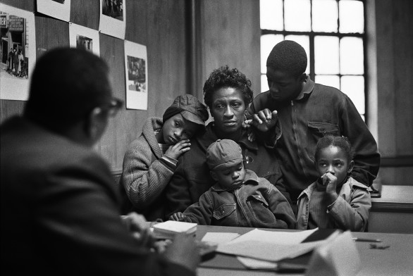 Gordon Parks, The Fontenelles at the Poverty Board, Harlem, New York, 1967