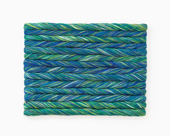 Sheila Hicks, Torsade Turquoise, 2017