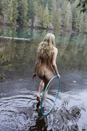 Juergen Teller, At Moments I Felt like Being in a Strange Dream in a Medieval Forest with 2 Naked Canadian Girls Doing Hula Hoops, Covered all over in Sweet Maple Syrup No.35, System Magazine Supplement, Canada, 2017