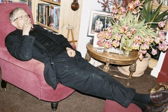 Juergen Teller, David Hockney smoking, Bridlington, 2008