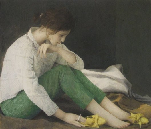 Graham Little, Daffodil Shoe Lady, 2010