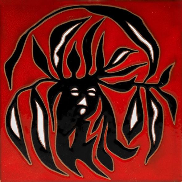 Jean Lurçat, Tile - Square - Red - Dryad, c. 1955