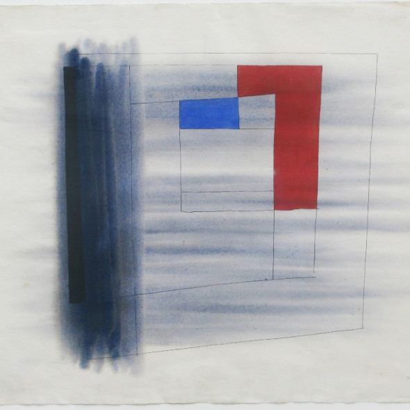 Alastair Morton - Composition in Grey, Red and Blue, 1946