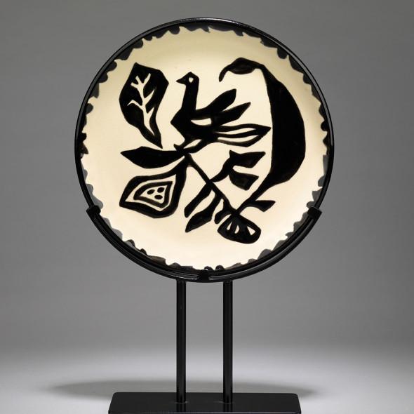 Jean Lurçat, Plate - White & Black - Nightingale, c. 1955