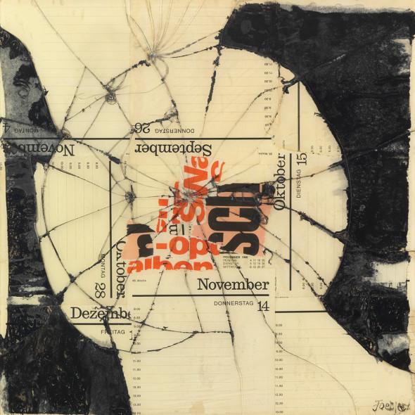 Reinhold Koehler, Figur SCH , Contre-Collage, 1968