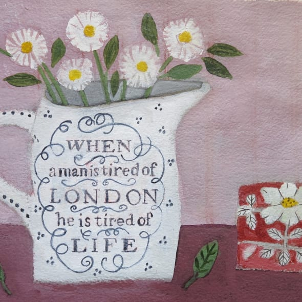 Jill Leman PRWS - Daisies in a London Jug