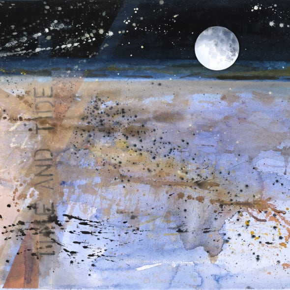 Janet Treloar RWS - Blue Sea & Moon