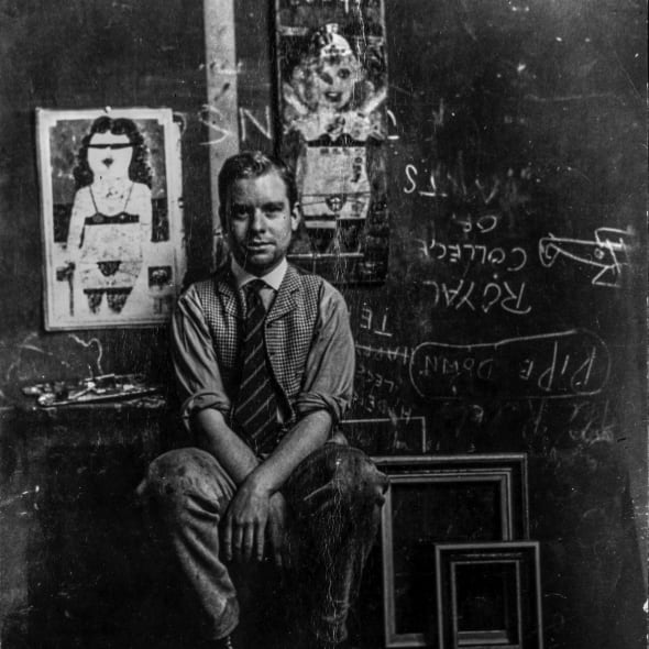 Peter Blake as a student at the Royal College of Art, 1955. Photograph by Robert Buhler.