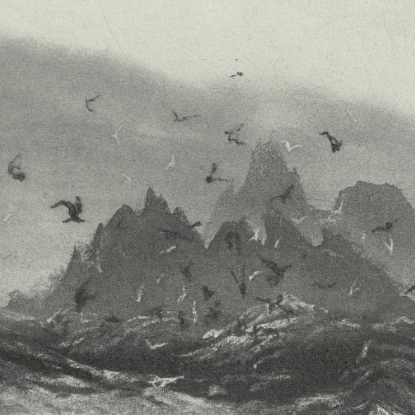 Norman Ackroyd RA RE, Skellig Rocks, etching