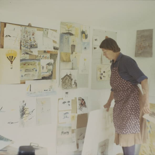 Mary Newcomb in her studio, 1994