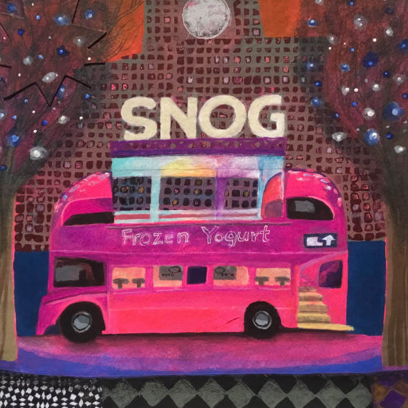 Gertie Young ARWS - Yoghurt Bus on the Southbank