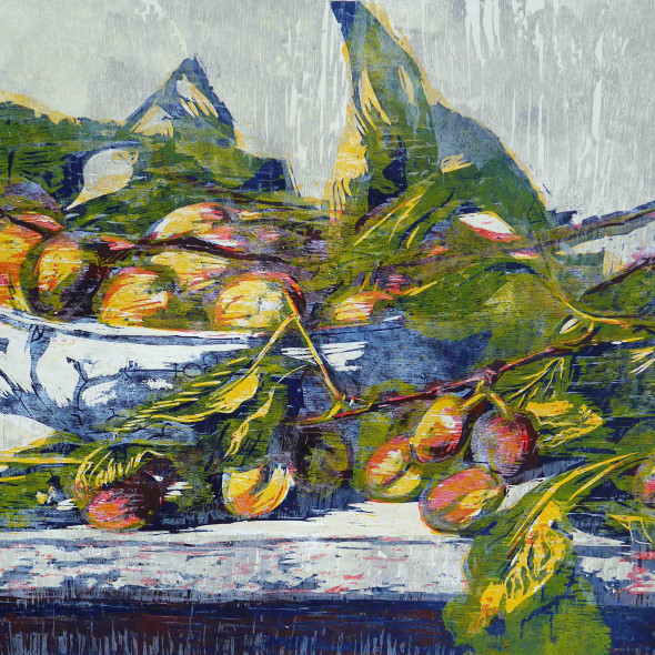 Hilary Daltry RE - September Fruits on Copenhagen Dish