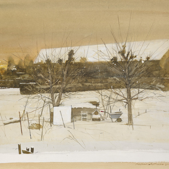 Michael Whittlesea RWS - The Barn in Winter