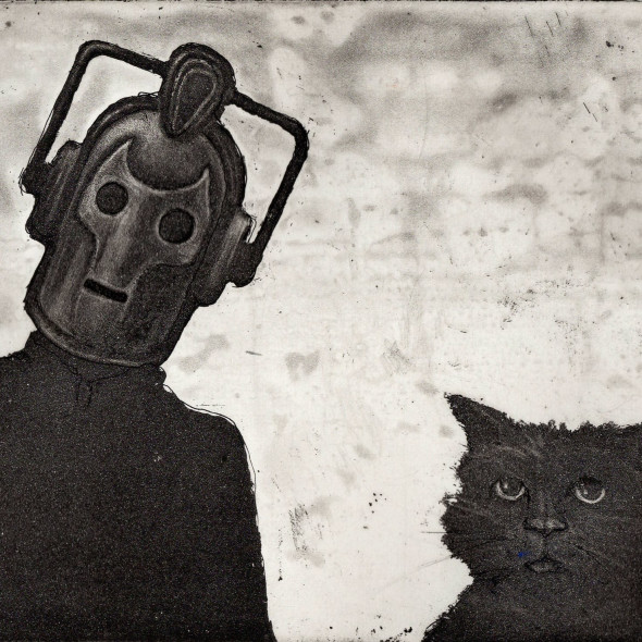 Chris Salmon ARE - Cyberman and Cat