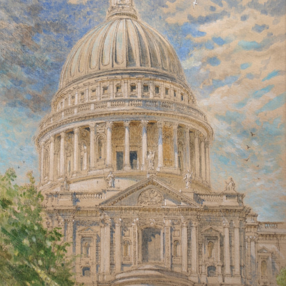 Charlotte Halliday RWS - St Paul's Cathedral from Peter's Hill