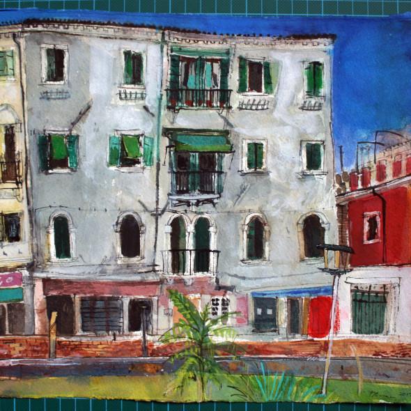 Peter Quinn RWS - A Garden in Dorsoduro, Venice