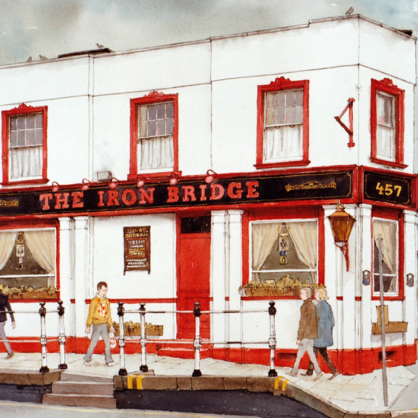 Arthur Lockwood RWS - The Ironbridge Pub, Isleworth
