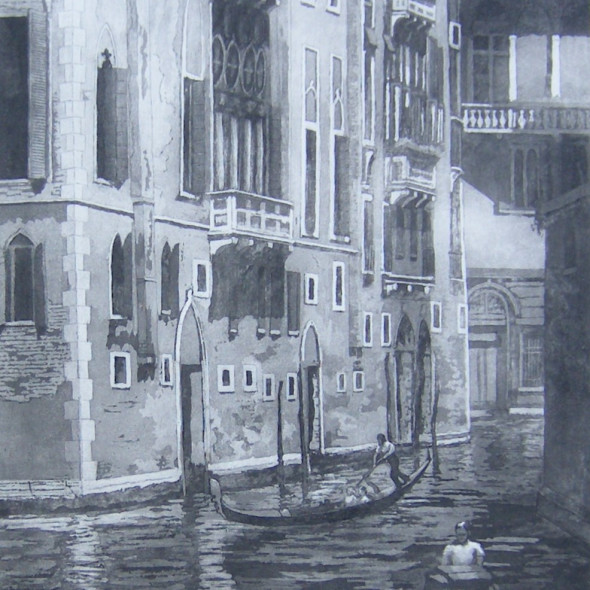 Ann Le Bas RE - Black Canal in Venice