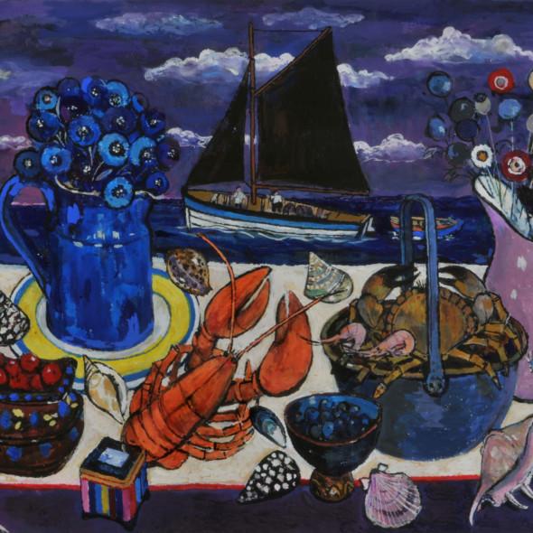 Sheila Findlay RWS - Seafood and Shells