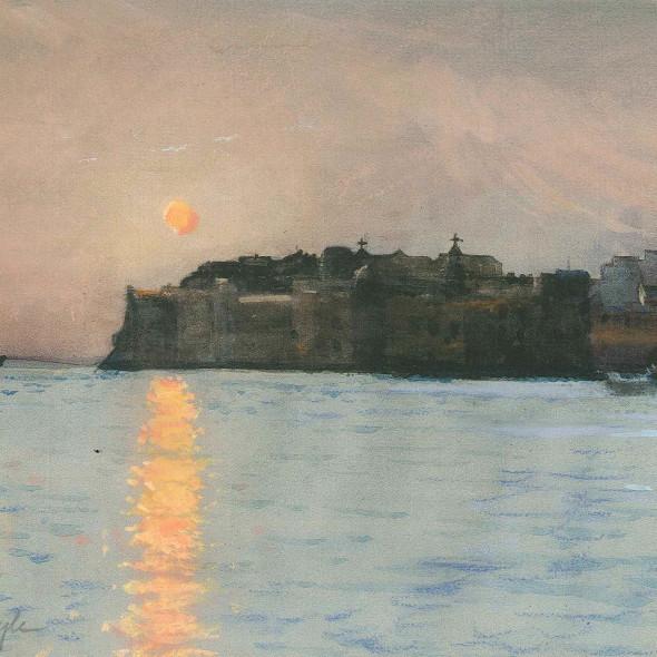 John Doyle Hon Rtd RWS - Sunset, Dubrovnik
