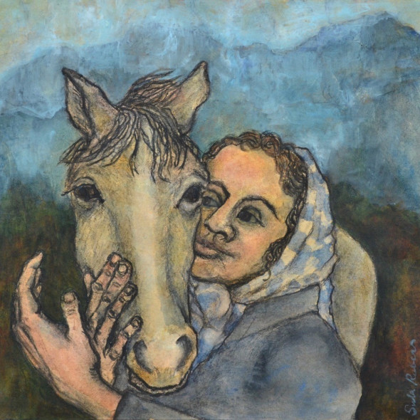 Sula Rubens ARWS - Girl with Horse