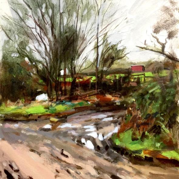Paul Regan ARWS - Bridgefoot Lane III